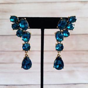 Rare! New Oscar de la Renta Crystal Drop Earrings